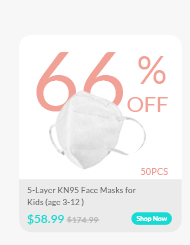 5-Layer KN95 Face Masks for Kids (age 3-12 )