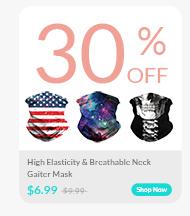 High Elasticity &Breathable Neck Gaiter Mask
